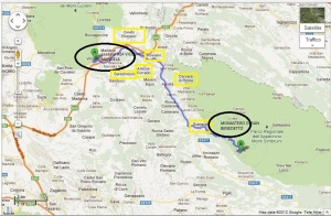 itinerario valle dell'aniene